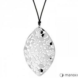 ażurowy naszyjnik damski w kolorze srebrnym