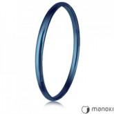 BA021N niebieska bransoletka damska bangle ze stali szlachetnej