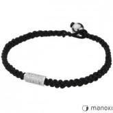 BA213 bransoletka damska  czarnego sznurka, cyrkonie