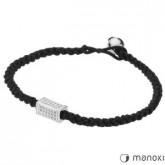 BA214 bransoletka damska czarnego sznurka