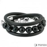 BA228 czarna bransoletka