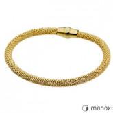 BA235G bransoletka damska ze stali szlachetnej w kolorze złotym