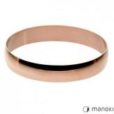 BA293R minimalistyczna bransoleta bangle, różowe złoto