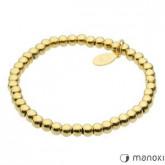 BA306G złota bransoletka damska ze stalowych kuleczek