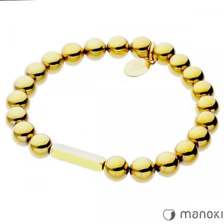 BA314GHG bransoletka damska ze złotego hematytu