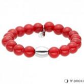 BA319SC czerwona bransoletka damska z jadeitu