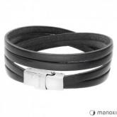 BA337B czarna bransoletka