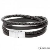 BA338B czarna bransoletka