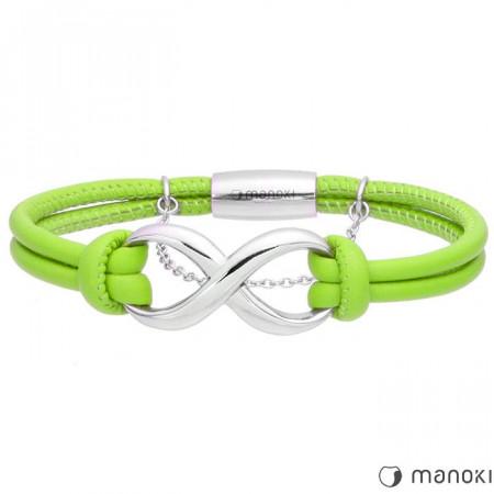 BA353SZ zielona bransoletka damska ze znakiem nieskończoności