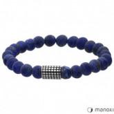 BA420J niebieska bransoletka męska z kamieni naturalnych