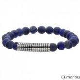 BA426J niebieska bransoletka męska z kamieni naturalnych