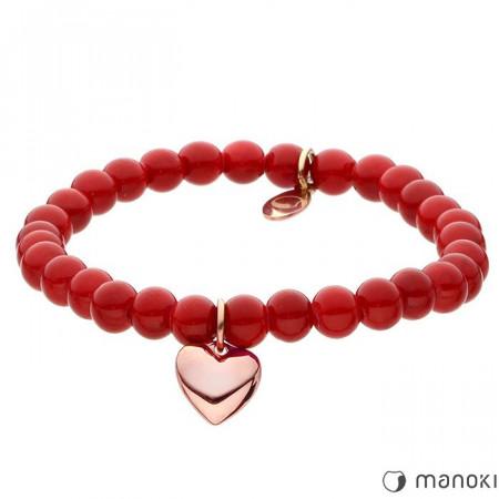 BA436RC czerwona bransoletka damska z jadeitu