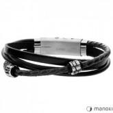 BA438B czarna bransoletka