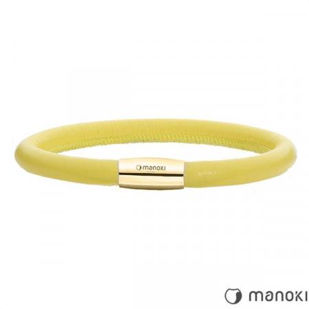 BA508GPY żółta bransoletka damska ze skóry naturalnej