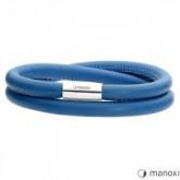BA509SN niebieska bransoletka damska ze skóry naturalnej