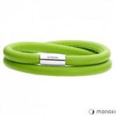 BA509SZ zielona bransoletka damska ze skóry naturalnej