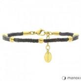 BA564G bransoletka damska z kamieni naturalnych, złote ozdoby