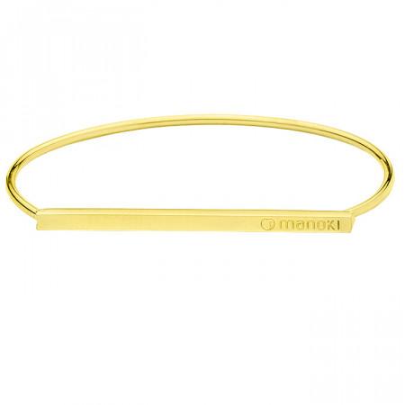 BA613G minimalistyczna, złota bransoletka damska
