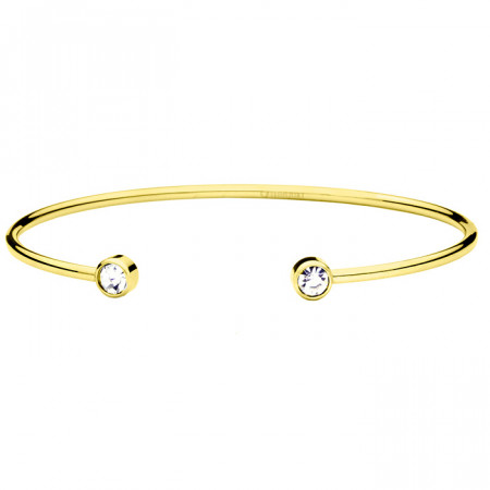 BA614G bransoletka damska z cyrkoniami, kolor złoty