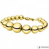 BA617G złota bransoletka damska ze stalowych kulek