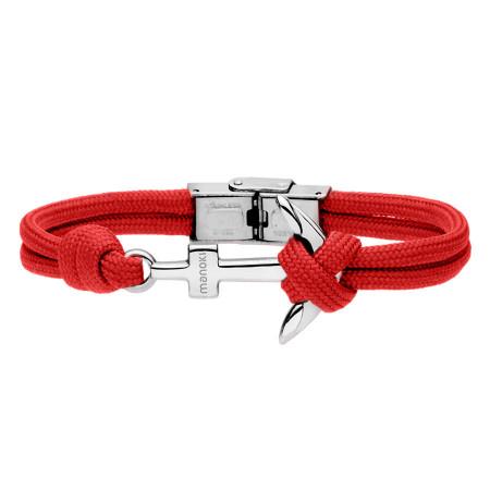BA628C czerwona bransoletka z kotwicą