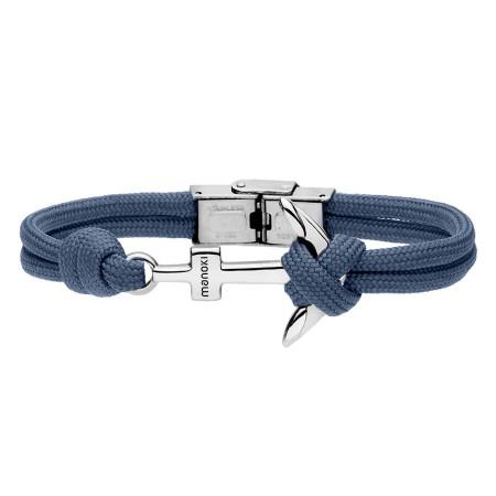 BA628N niebieska bransoletka męska z kotwicą