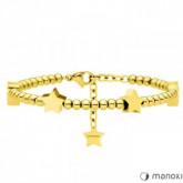 BA631G bransoletka damska w kolorze złotym z gwiazdkami