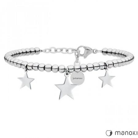 BA633 srebrna bransoletka z gwiazdkami
