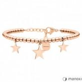 BA633R bransoletka z gwiazdkami, różowe złoto