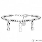 BA637 srebrna bransoletka damska z symbolem nieskończoności