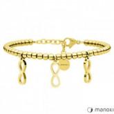 BA637G złota bransoletka damska z symbolem nieskończoności
