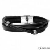 BA654B czrna bransoletka beads