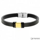 BA695G czarna bransoletka ze złotym elementem