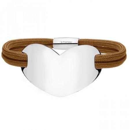 BA700BZ brązowa bransoletka damska HEART