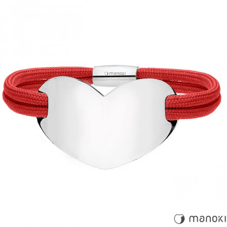 BA700C czerwona damska Bransoletka HEART