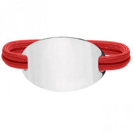 BA701C czerwona bransoletka damska OVAL