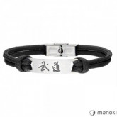 BA711B czarna bransoleta
