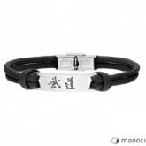 BA711B czarna bransoleta BUDO