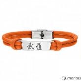 BA711P pomarańczowa bransoleta BUDO