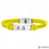 BA711Y żółta bransoleta BUDO