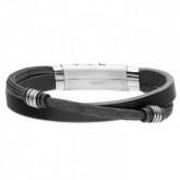 BA735B czarna bransoletka
