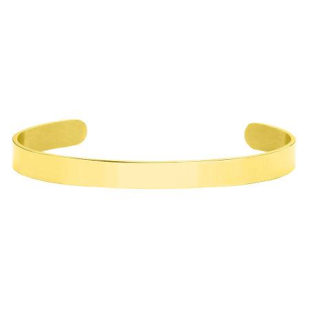BA746G minimalistyczna bransoletka pod grawer, złota