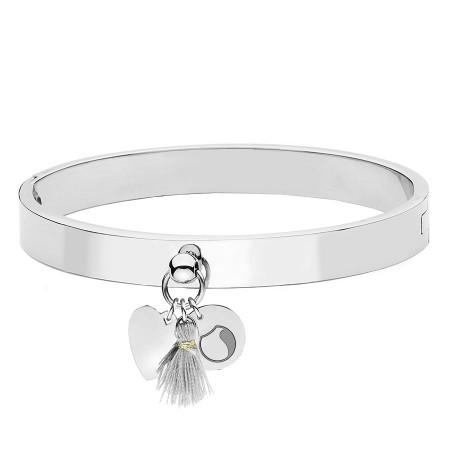 BA753 srebrna bransoletka damska z minimalistycznymi ozdobami