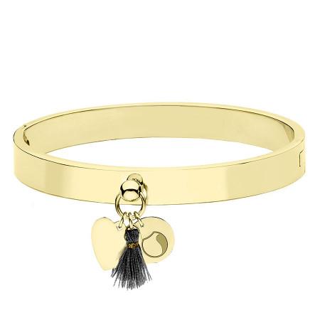 BA753G złota bransoletka damska z serduszkiem i chwostem