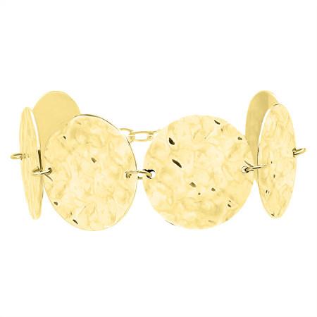BA768G pozłacana bransoleta medaliony