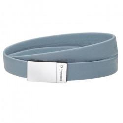 Błękitna bransoletka damska skórzana baby blue