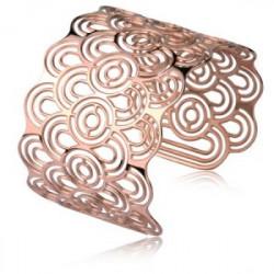 Bransoletka damska bangle w kolorze różowego złota