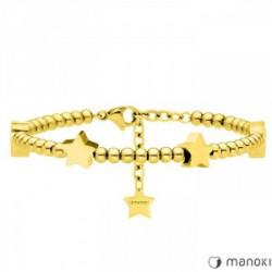 bransoletka damska w kolorze złotym z gwiazdkami