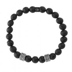 Bransoletka etno beads lawa wulkaniczna