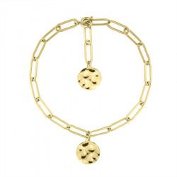 Bransoletka łańcuch pozłacany z delikatnym medalionem